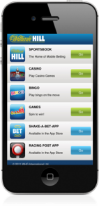 The William Hill iPhone betting app