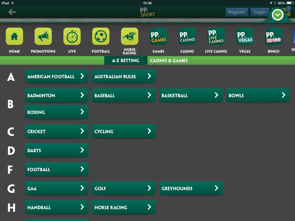 iPad betting apps - Paddy Power