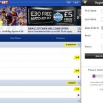 The Sky Bet iPad app screen shot 1