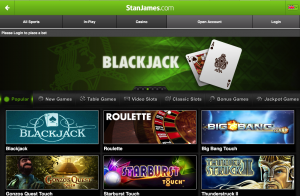 Stan James mobile app games (iPad)