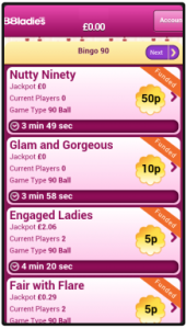 888 Ladies Bingo App Screen Shot